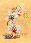 Click for more details of Three Orchids (cross-stitch kit) by Lanarte
