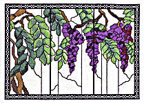 Click for more details of Tiffany Windows - Wisteria (cross-stitch kit) by Barbara Thompson