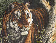 Click for more details of Tiger - the Hidden King (cross-stitch kit) by Lanarte