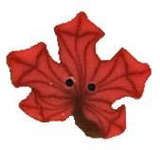 Click for more details of Tiny Orange Maple Leaf Button (beads and sequins) by Just Another Button Company