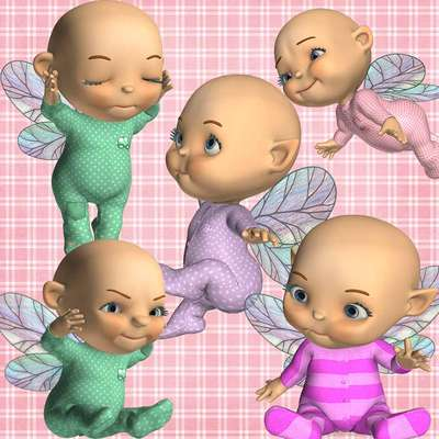 Click for more details of Toon Baby Fairy 2 (digital downloads) by DawnsDesigns