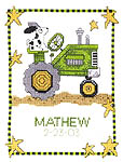 Click for more details of Tractor Birth (cross-stitch pattern) by Imaginating