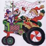 Click for more details of Tractor Santa (cross-stitch) by Stoney Creek