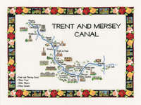 Click for more details of Trent and Mersey Canal (cross stitch) by Sue Ryder