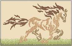 Click for more details of Tribal Horse (blackwork) by DoodleCraft Design
