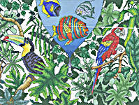 Click for more details of Tropical Fantasy (cross stitch) by Mike Vickery