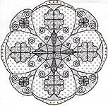 Click for more details of Tudor Rose (blackwork kit) by Leon Conrad