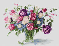 Click for more details of Tulips (cross-stitch kit) by Luca - S