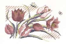 Tulips - cross-stitch kit by Permin of Copenhagen