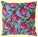 Tulips Cushion Front - tapestry kit by Permin of Copenhagen