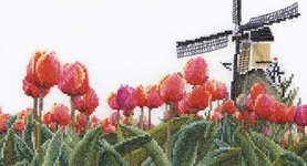Click for more details of Tulips Fields (cross-stitch kit) by Thea Gouverneur