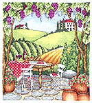 Click for more details of Tuscan Picnic (cross-stitch pattern) by Bobbie G. Designs