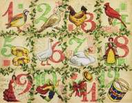Click for more details of Twelve Days of Christmas (cross stitch) by Dimensions