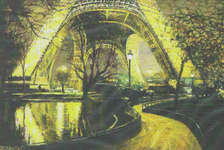 Click for more details of Twilight at the Eiffel Tower (cross-stitch pattern) by Mystic Stitch Inc
