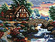 Click for more details of Twilight Bridge (cross stitch) by Dimensions