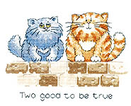 Click for more details of Two Good to be True (cross-stitch kit) by Peter Underhill