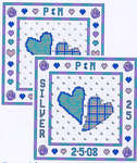 Click for more details of Two Hearts - Silver (cross-stitch pattern) by Cinnamon Cat