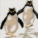 Click for more details of Two Penguins (cross-stitch kit) by Lanarte