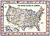 Click for more details of United States of America (cross stitch) by Sue Ryder