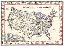 Click for more details of United States of America (cross-stitch kit) by Sue Ryder