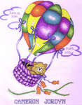 Click for more details of Up, Up and Away Kitty (cross-stitch kit) by Design Works