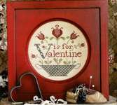 Click for more details of V is for Valentine (cross stitch) by Heartstring Samplery