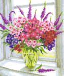 Click for more details of Vase of Sweet William (cross-stitch) by Vervaco