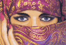 Click for more details of Veiled Woman (cross-stitch kit) by Lanarte