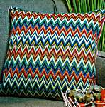 Click for more details of Venetian Bargello Cushion Front (tapestry) by Glorafilia