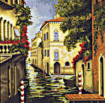 Click for more details of Venice in Bloom (cross-stitch kit) by Luca - S