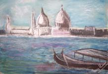 Click for more details of Venice in Pastel (pastel) by Terry Chivers