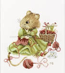 Click for more details of Vera the Mouse - Knitting (cross-stitch kit) by Marjolein Bastin