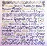 Click for more details of Verdant Variations (cross-stitch) by Tempting Tangles Designs