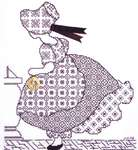 Click for more details of Victoria's Girls - Helena (blackwork kit) by Classic Embroidery