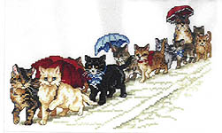 Click for more details of Victorian Kittens (cross-stitch pattern) by Donna Vermillion