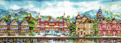 Click for more details of Victorian Promenade (cross stitch) by Andriana