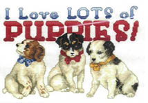 Click for more details of Victorian Puppies (cross-stitch pattern) by Donna Vermillion