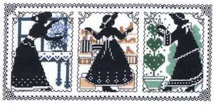 Click for more details of Victorian Silhouettes (cross-stitch) by Imaginating