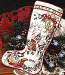 Click for more details of Victorian Village Christmas Stocking (cross-stitch pattern) by Stoney Creek