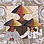 Click for more details of Vietnamese Family (cross-stitch kit) by Royal Paris