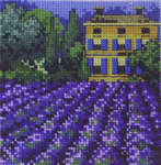 Click for more details of Villa and Lavender Fields  (cross-stitch) by Permin of Copenhagen
