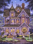Click for more details of Village Bookstore (cross-stitch pattern) by Heaven and Earth Designs