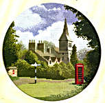 Click for more details of Village Green (cross-stitch pattern) by John Clayton