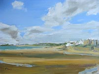 Click for more details of Village of Elie (oil on canvas) by Yvonne Healy