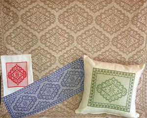 Click for more details of Vintage Lace (swedish weaving pattern) by Swedish Weave Designs