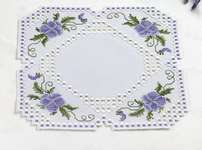 Click for more details of Viola Hardanger Table Mats (hardanger kit) by Permin of Copenhagen