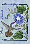 Click for more details of Violet-Crowned Hummingbird (cross-stitch pattern) by Crossed Wing Collection