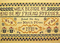 Click for more details of Walk Beside Me Wedding Sampler (cross-stitch) by Rosewood Manor