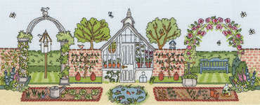 Click for more details of Walled Garden (cross-stitch kit) by Bothy Threads