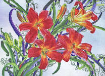 Click for more details of Waltzing Lilies (cross-stitch) by Cross My Heart